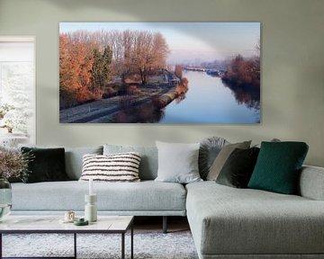 Uitzicht op de Dender, Gijzegem, België van Imladris Images