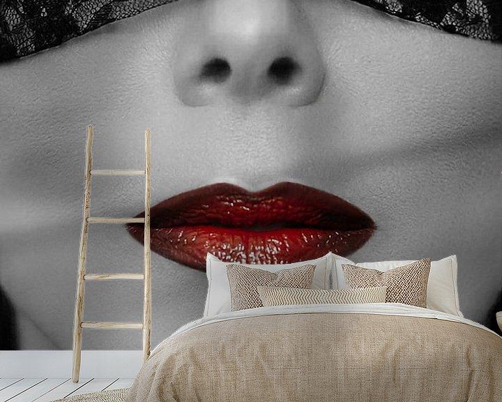 Sfeerimpressie behang: Shades of red... van Miranda van Hulst