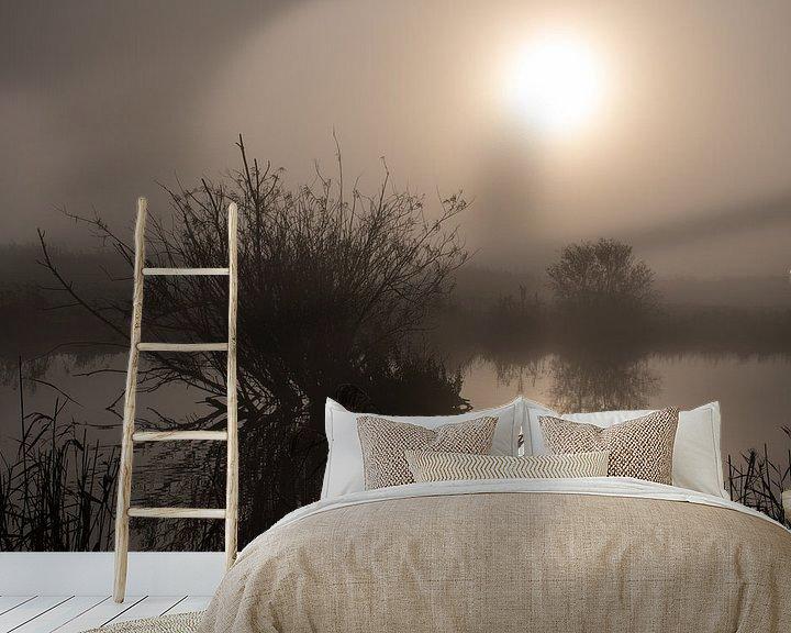 Sfeerimpressie behang: mysterieuze sfeer in de polder van Jan Brand