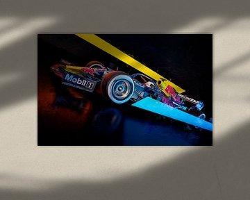 Max Verstappen 2021 Red Bull sur Nylz Race Art