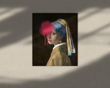 Das Mädchen mit dem Perlenohrring - Vermeer Girl von OEVER.ART