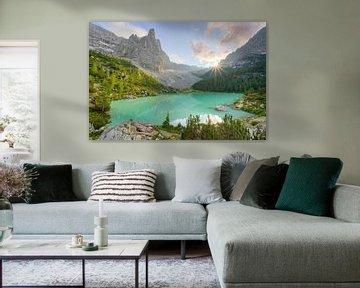 Lago di Sorapis dans les Dolomites