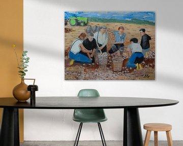 Kartoffelerntemaschinen von Antonie van Gelder Beeldend kunstenaar