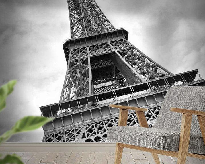 Beispiel fototapete: Eiffelturm DYNAMIC von Melanie Viola