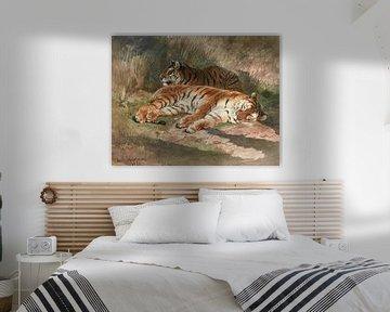 Deux tigres couchés, Rosa Bonheur