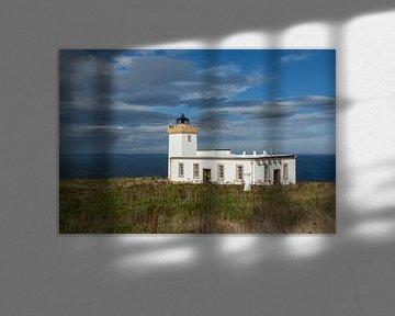 Dunscansby Head Lighthouse. John o'Groats Schotland. van Gert Hilbink