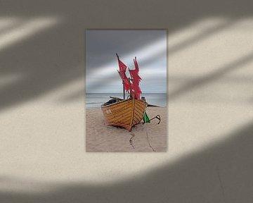 Ostsee - Fischerboot am Strand von Kölpinsee (Usedom) von t.ART