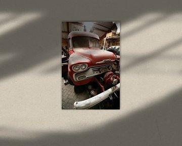 Klassieke oude brandweer auto van Photoned