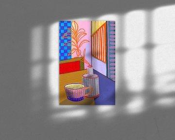 Abstraktes Stillleben Nr. 4 von Inikki