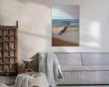 Ostsee - Buhne am Strand von Usedom von t.ART