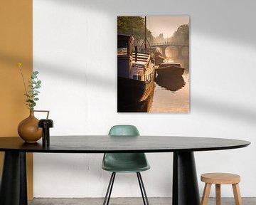 Zonsopkomst Keizersgracht #3 van Roger Janssen