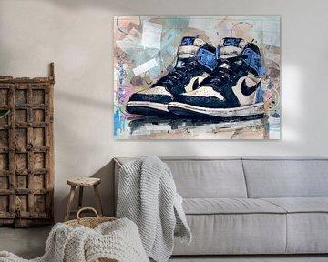Nike air jordan 1 obsidian blau malerei von Jos Hoppenbrouwers