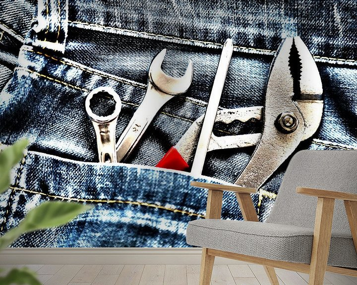 Sfeerimpressie behang: Werkzeugtasche van Marcel Schauer