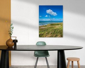 Duin en strand bij Hirtshals in Denemarken van Rico Ködder