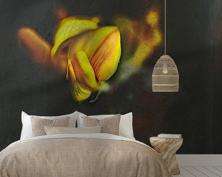 Sfeerimpressie behang: gewoon een bloem van Dick Jeukens