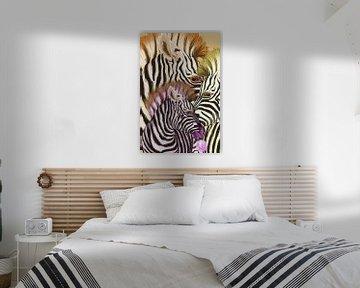 Bubblegum zebra van Rudy en Gisela Schlechter