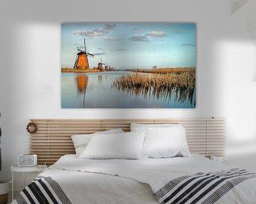 Last light Mills - Kinderdijk van Jan Koppelaar