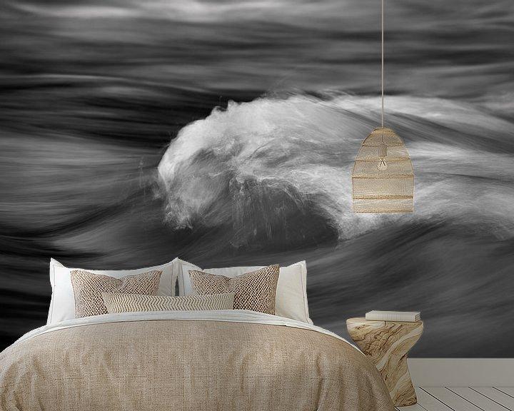 Beispiel fototapete: Wasserbewegung eines Baches in Detailansicht von Ralf Lehmann