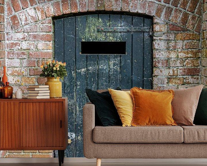 Beispiel fototapete: Geschlossene Tür von Anjo ten Kate