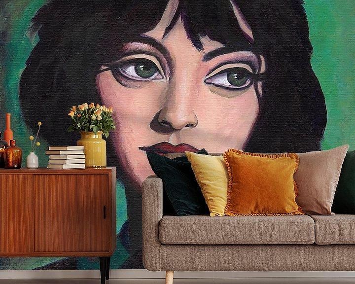 Sfeerimpressie behang: Imagine van Lucienne van Leijen