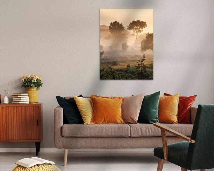 Beispiel: Nebliger Sonnenaufgang von Art Wittingen