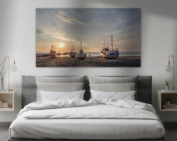 Sunset in Denemarken van Frans Nijland