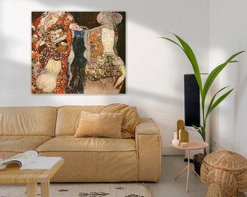 The Bride - Gustav Klimt van Rudy en Gisela Schlechter