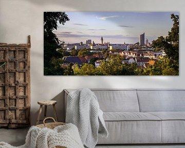Panorama de la ville de Leipzig
