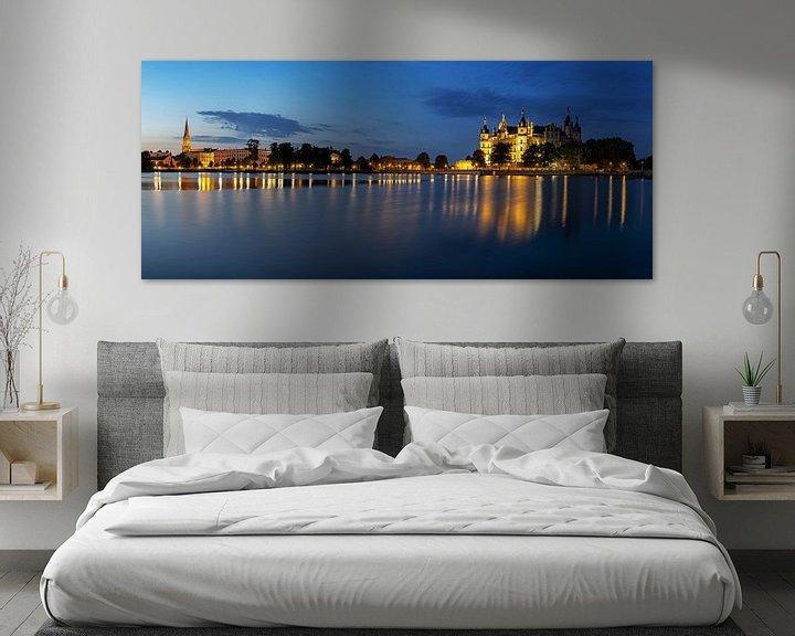 Impression: Panorama de Schwerin à l'heure bleue sur Frank Herrmann
