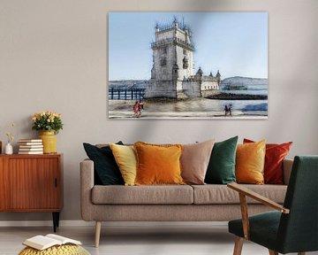 De Torre de Belém in Lissabon van Berthold Werner