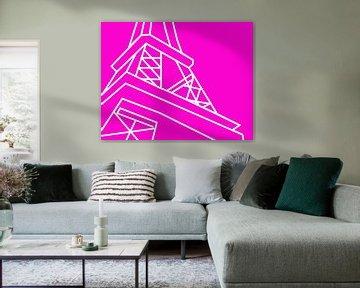 Eifeltower in pink van Pincello Studio
