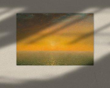 Zonsondergang op zee, John Frederick Kenssett