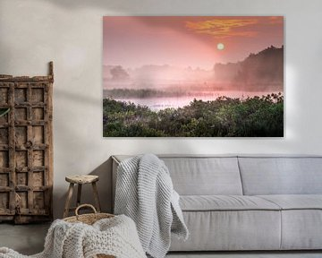 Romantischer Sonnenaufgang an der Teut