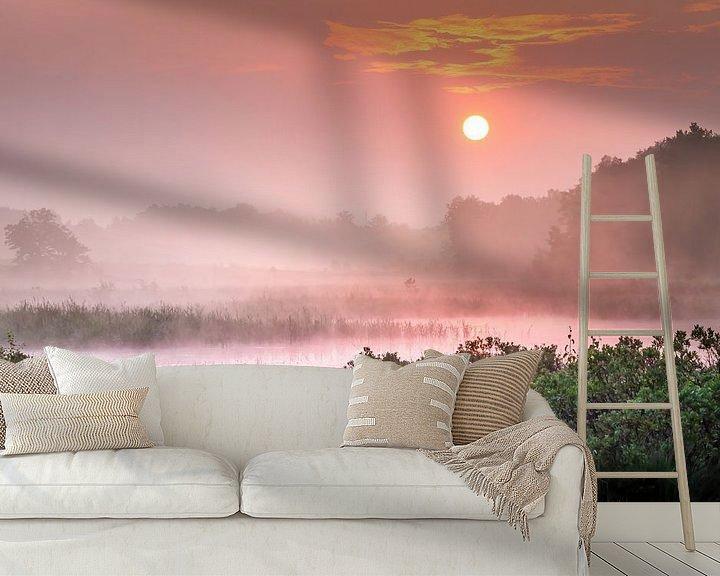 Sfeerimpressie behang: Romantische zonsopgang aan de Teut van Peschen Photography