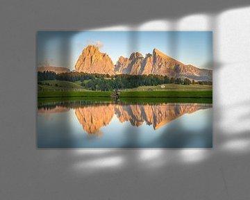 Lueur alpine sur l'Alpe di Siusi