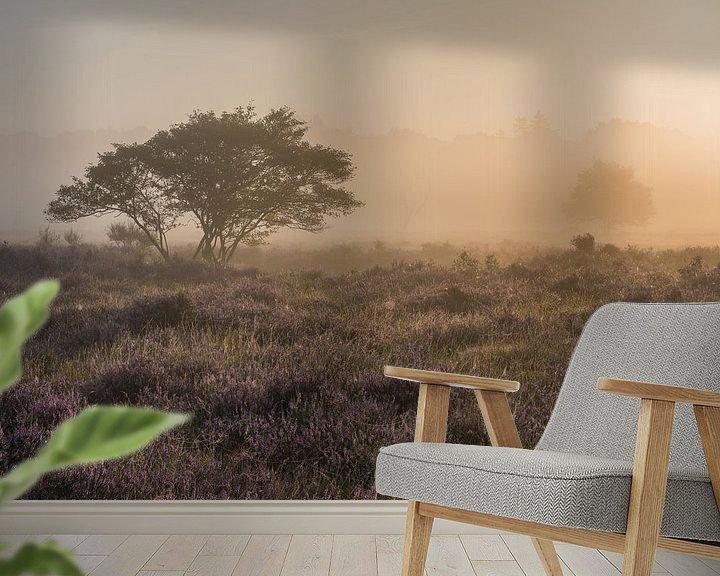 Impression: Brouillard au lever du soleil sur le Westerheide 3 sur Jeroen de Jongh