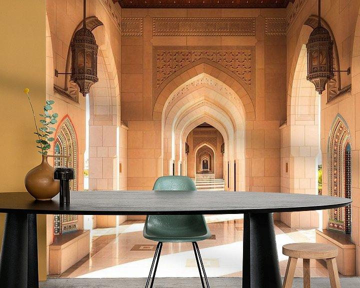 Sfeerimpressie behang: Sultan Qaboes-moskee van Thomas Bartelds