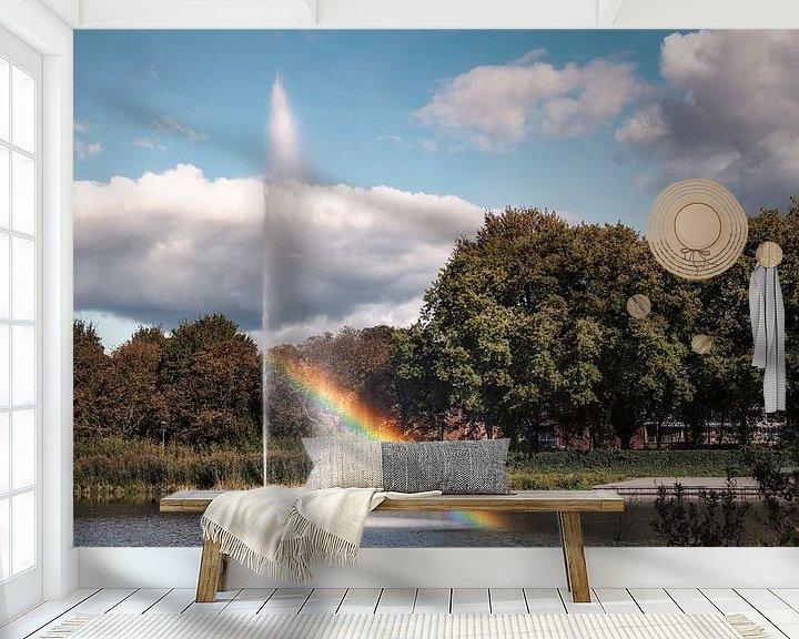 Sfeerimpressie behang: Lichtbreking van Jan van der Knaap