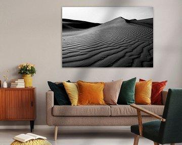 Wüstenlandschaft  in Schwarz und Weiß von Roel Beurskens