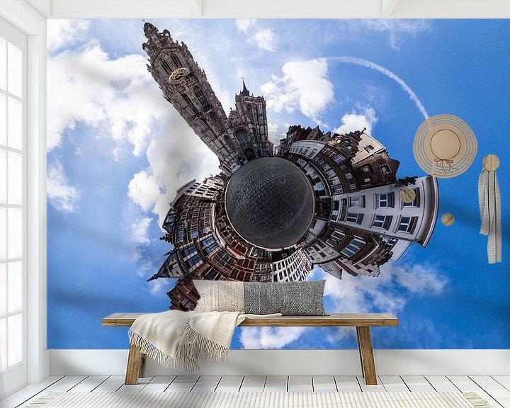 Sfeerimpressie behang: Planet Onze-Lieve-Vrouwekathedraal van Frenk Volt