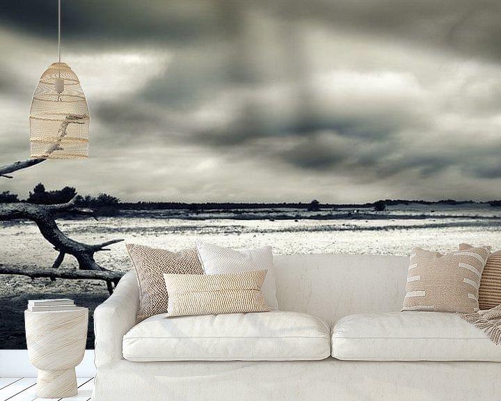Sfeerimpressie behang: Drunenseduinen_storm op komst van Jan Brand