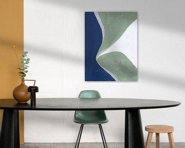 Blauwgroen abstract III, Danhui Nai van Wild Apple