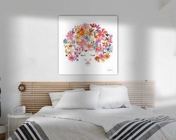 Floral Beauties II, Farida Zaman van Wild Apple