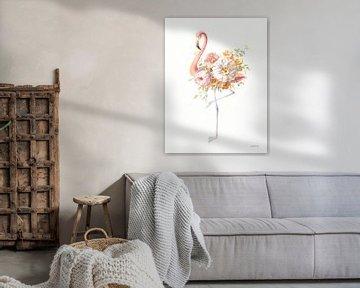 Floral Flamingo II, Danhui Nai van Wild Apple