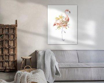 Floral Flamingo I, Danhui Nai van Wild Apple