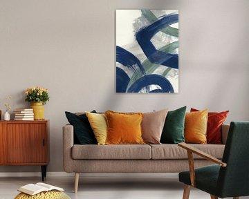Navy Brushy Abstract I, Danhui Nai van Wild Apple