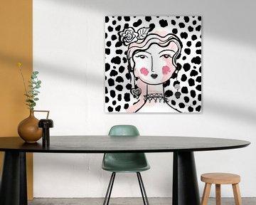 Mooie gezichten II roze, Farida Zaman van Wild Apple