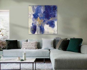 Fonkeling abstract II blauw, Silvia Vassileva van Wild Apple