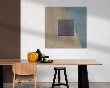Blauwe zijde abstract II, Avery Tillmon van Wild Apple