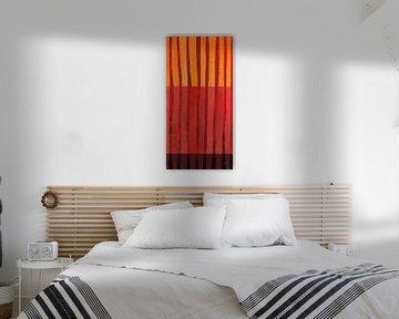 Textured Stripes II, Jane Davies van Wild Apple